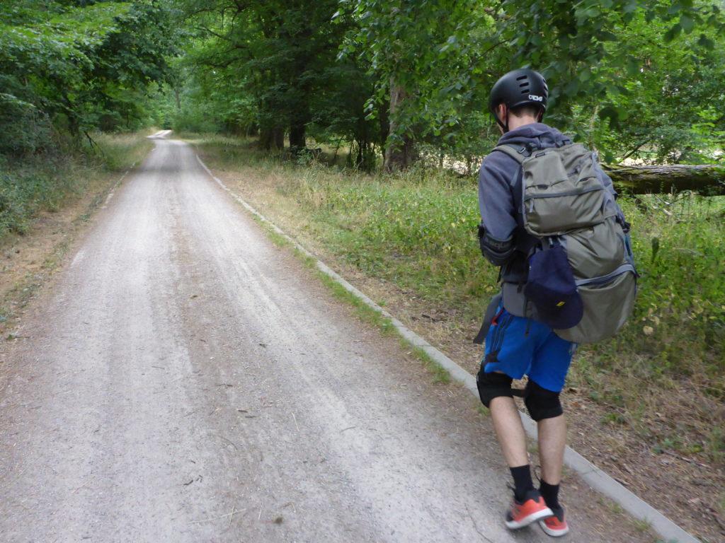 Schotterweg nach Biesenthal