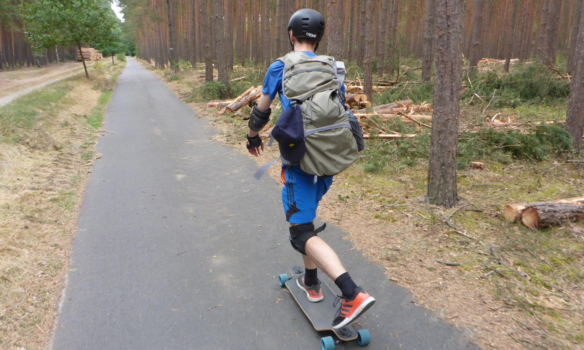 Start durch den Wald